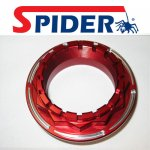 Spider SP40/A Ducati 1098-1198-1199 achterwielmoer rood